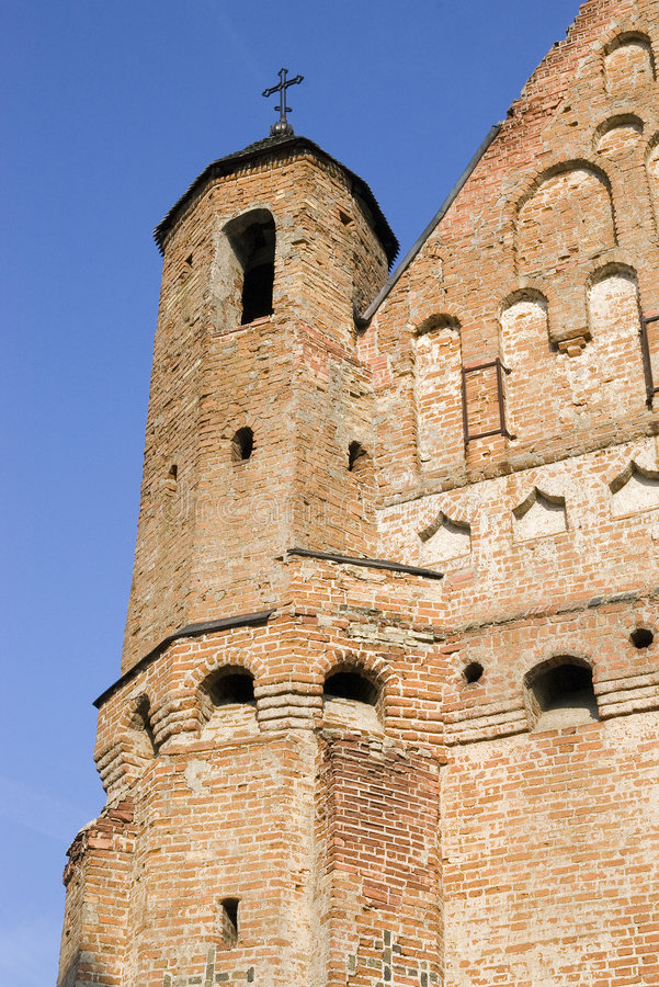 Old church-fortress. Of 15 centuries. In village Synkovichi in Belarus royalty free stock photos