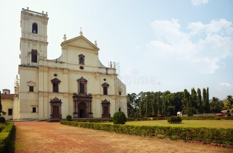 Old church in Goa stock photo