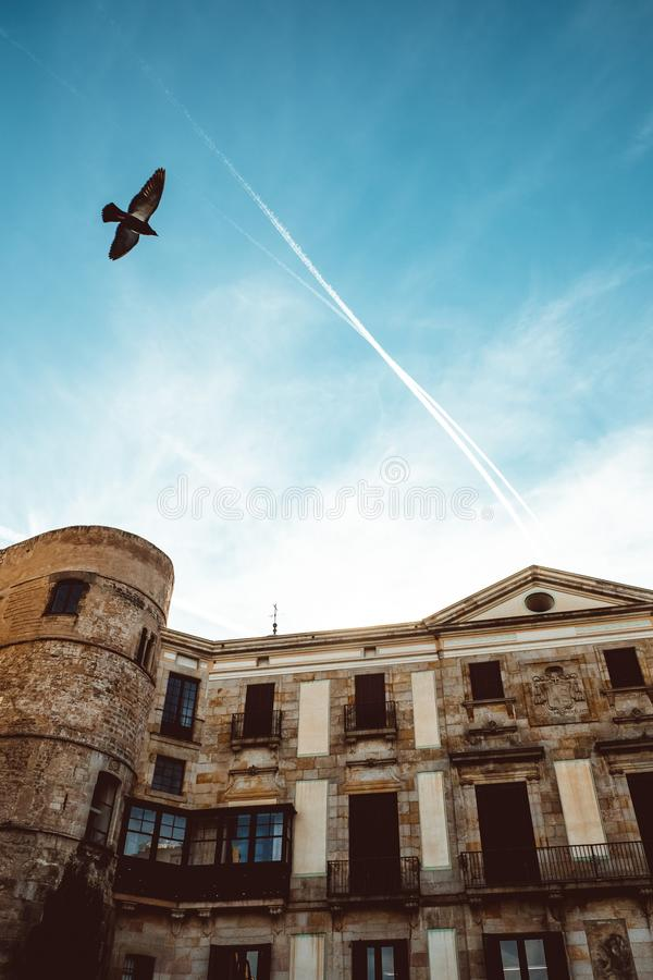 Old Church in the Gothic Quarter of Barcelona. It is aslo called as Barri Gotic royalty free stock images