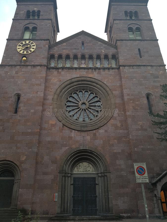 Old Church in Italy Summer 2017 stock photos