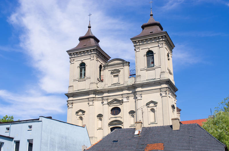 Old church in Leszno, Poland. Old church in Leszno - Poland royalty free stock image