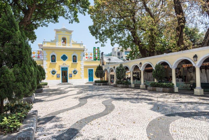 Old church in Macau royalty free stock photos