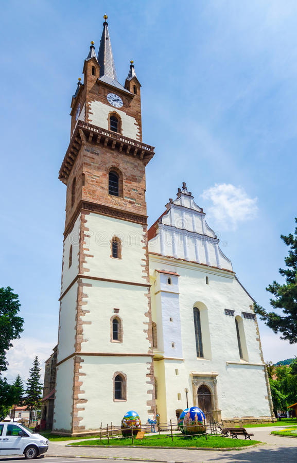 Old church in Miercurea Ciuc. Old church in Miercurea - Ciuc, Romania stock photography