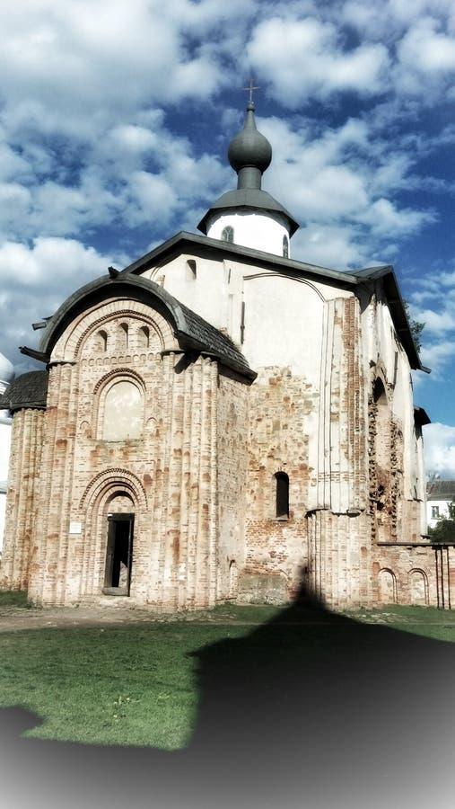 Old church of Paraskeva in Novgorod stock photo