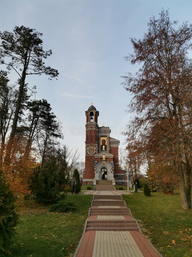 Old church in the park royalty free stock photography