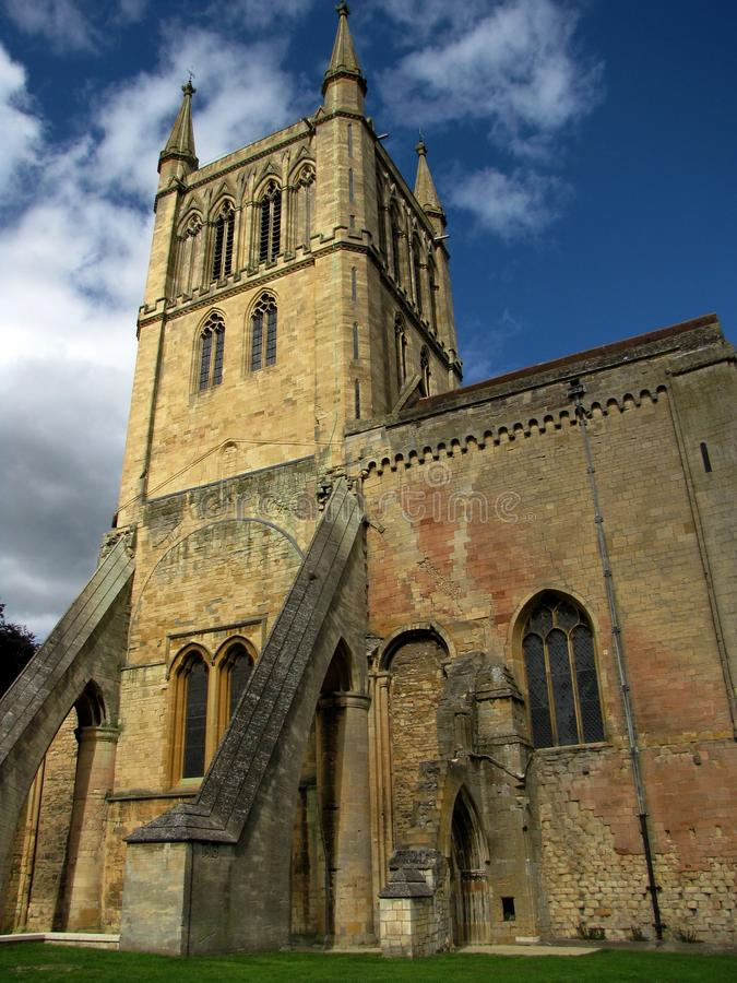 The old church in Pershore. Worcestershire royalty free stock photo