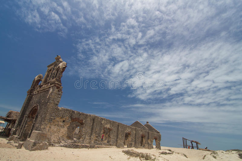 Old Church Remains after Cyclone royalty free stock photography