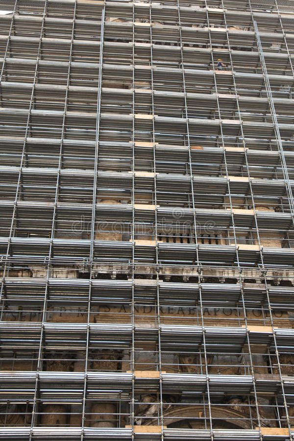 Download Old church in Rome stock image. Image of scaffolding - 24364393
