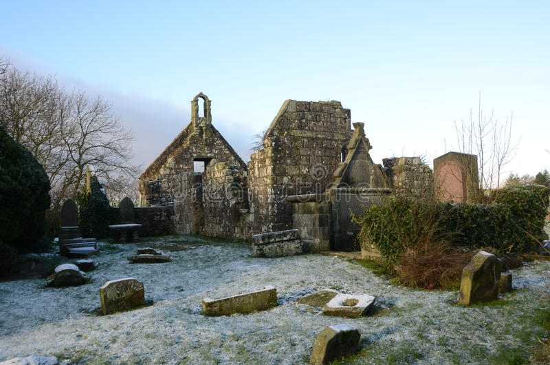 Old Church Ruins. A view of the ruins of an old church in the village of Carnock royalty free stock photos