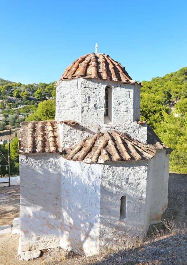 Saint Ioannis Kalibitis church at Salamis island Greece royalty free stock images