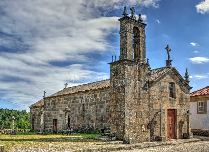 Old church of Sanfins de Ferreira stock photography