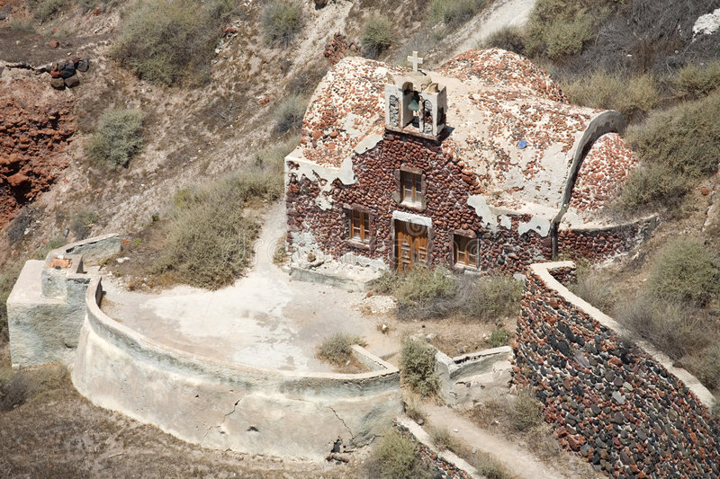 Download Old Church On Santorini Island Stock Photo - Image of countryside, religion: 2957518