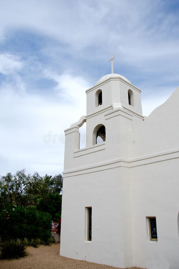 Old Church, Scottsdale. Old Adobe Church, Old town, Scottsdale, Arizona royalty free stock image