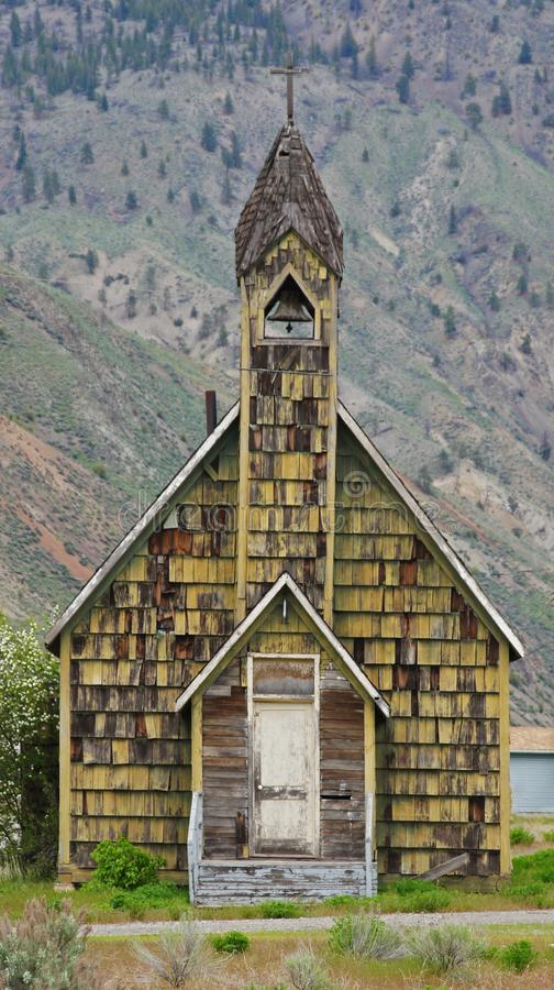 Old Church Spences Bridge, British Columbia, Canada. Old Church at Spences Bridge, British Columbia, Canada on Highway 97 stock photo