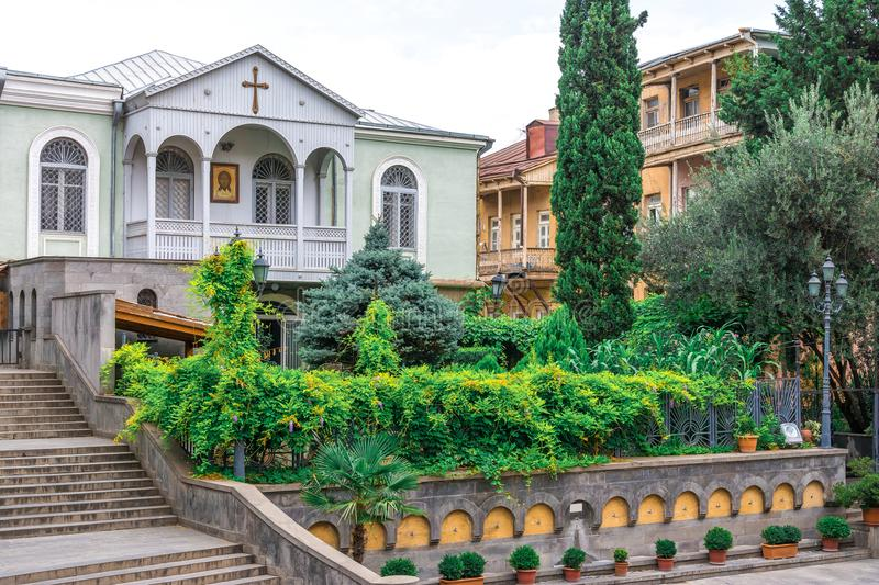 The old Church of St George Tbilisi stock photography