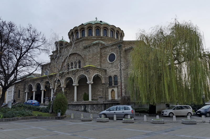 The old church St. Nedelya in Sofia. Bulgaria, Europe stock images