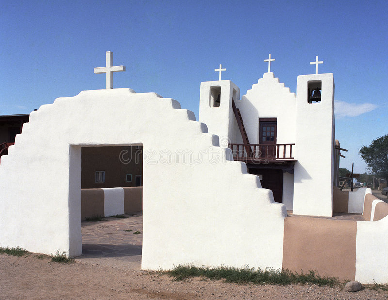 Download Old Church At Taos, New Mexico Stock Photography - Image: 3796282