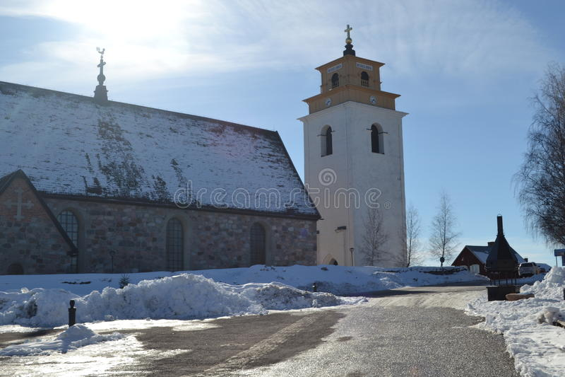 Old Church Town in Sweden stock photos