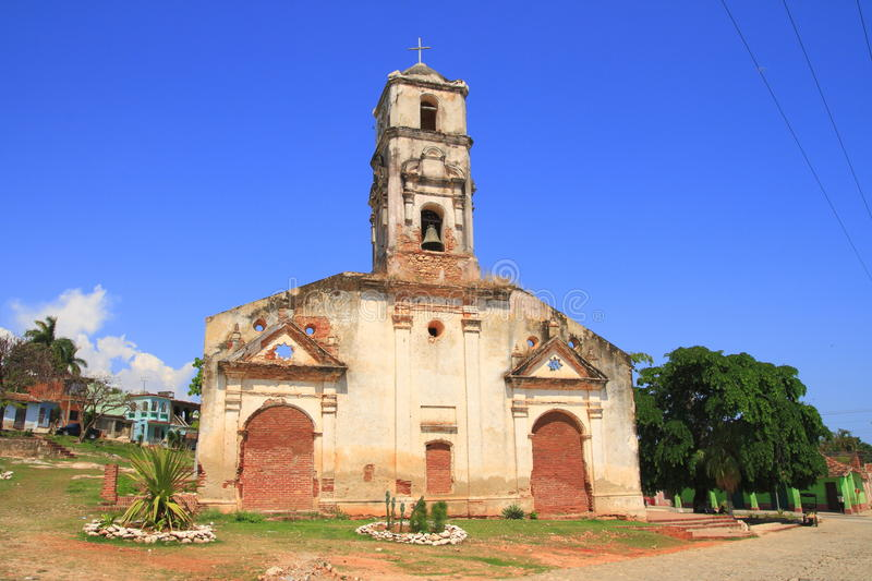 An old church in Trinidad royalty free stock photography