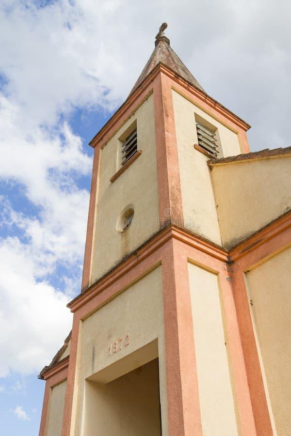 Old church in Venancio Aires. German colony in Brazil stock photo