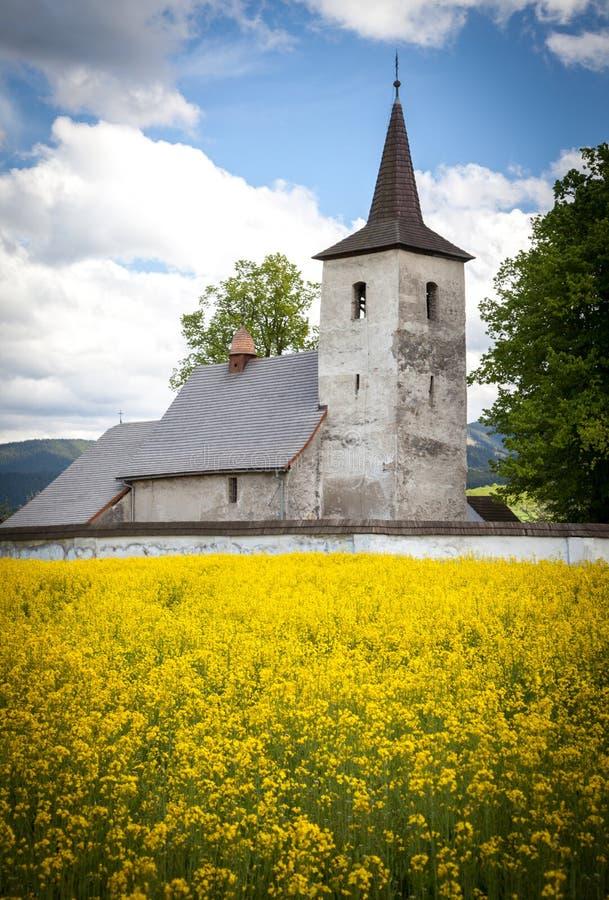 Old church at village Ludrova, Slovakia royalty free stock image