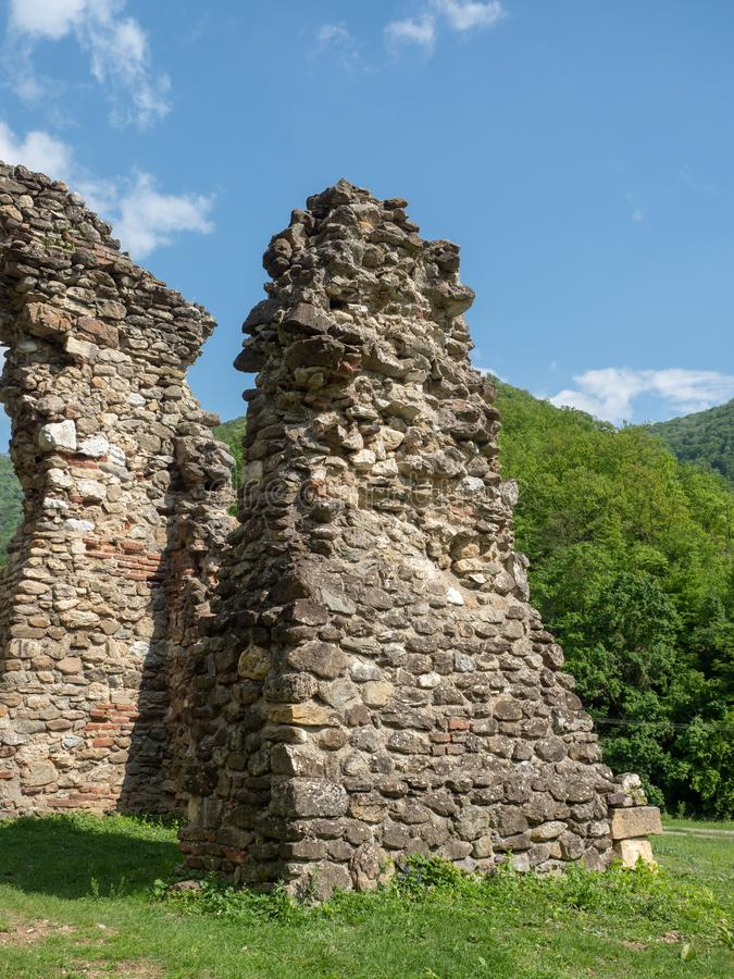 The old church at Vodita monastery, Romania stock images