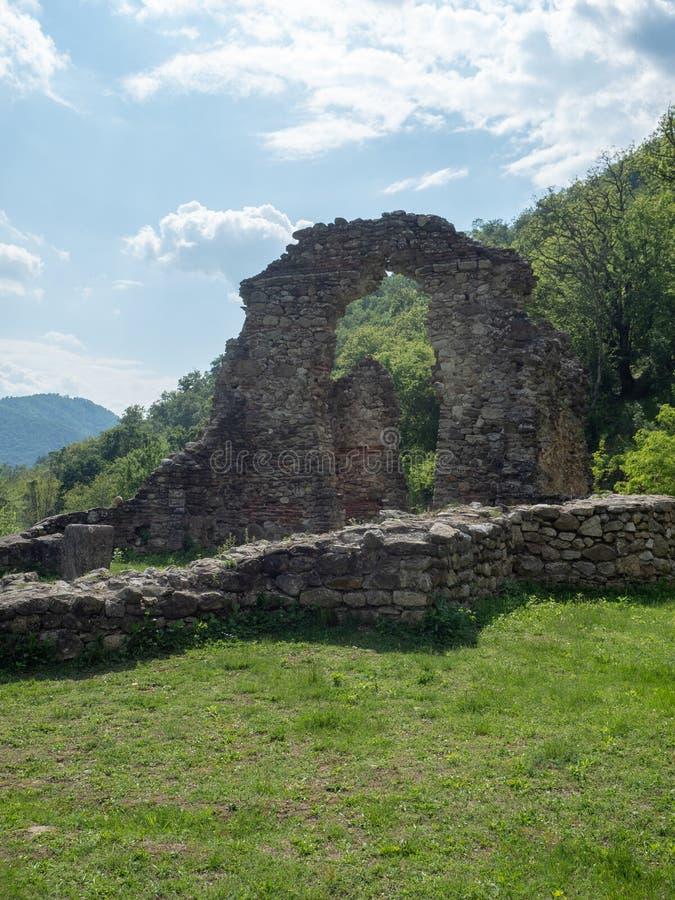 The old church at Vodita monastery, Romania stock photo