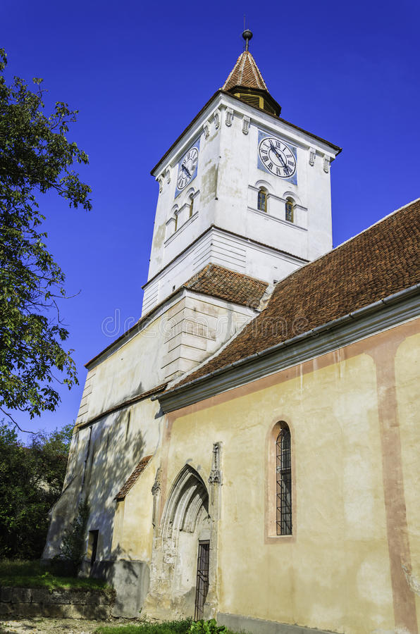 Free Old Church With Clock Tower, Transylvania Architecture Royalty Free Stock Photography - 34432997