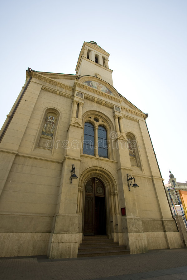 Old church in Zagreb royalty free stock image