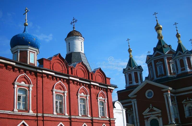Old churches in Kremlin, Kolomna town, Russia. Popular landmark. Color photo royalty free stock photos