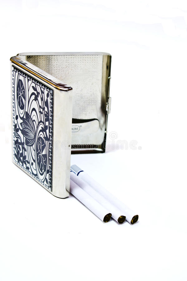 Old cigarette holder. On white background royalty free stock photos