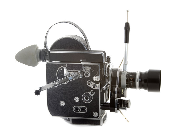 Old cinema camera royalty free stock photos