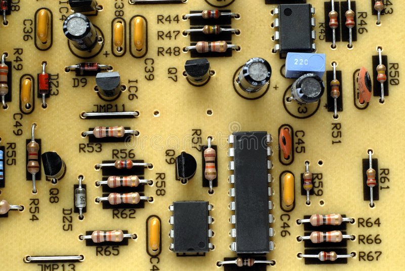 Download Old Circuit Board stock photo. Image of microchip, transistors - 1504670