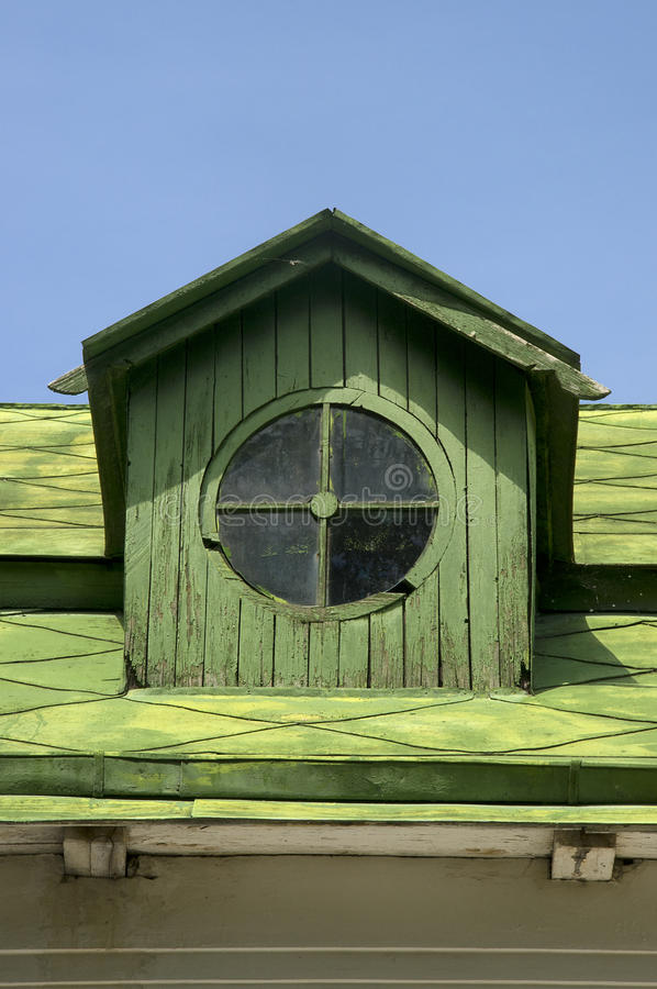 Old Circular Dormer Attic Window Stock Photo Image Of