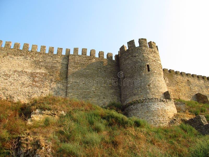 Old citadel in Belgorod Dnistrovski, Ukraine. Old citadel tower and wals in Belgorod Dnistrovski, Ukraine stock images