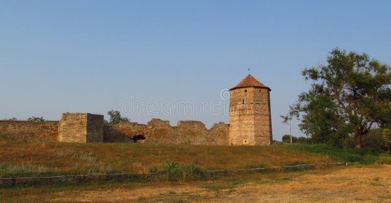 Old citadel in Belgorod Dnistrovski, Ukraine. Old citadel tower and wals in Belgorod Dnistrovski, Ukraine royalty free stock images