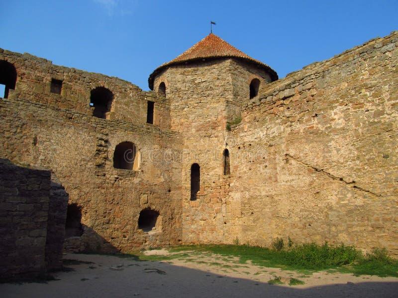 Old citadel in Belgorod Dnistrovski, Ukraine. Old citadel tower and wals in Belgorod Dnistrovski, Ukraine stock image