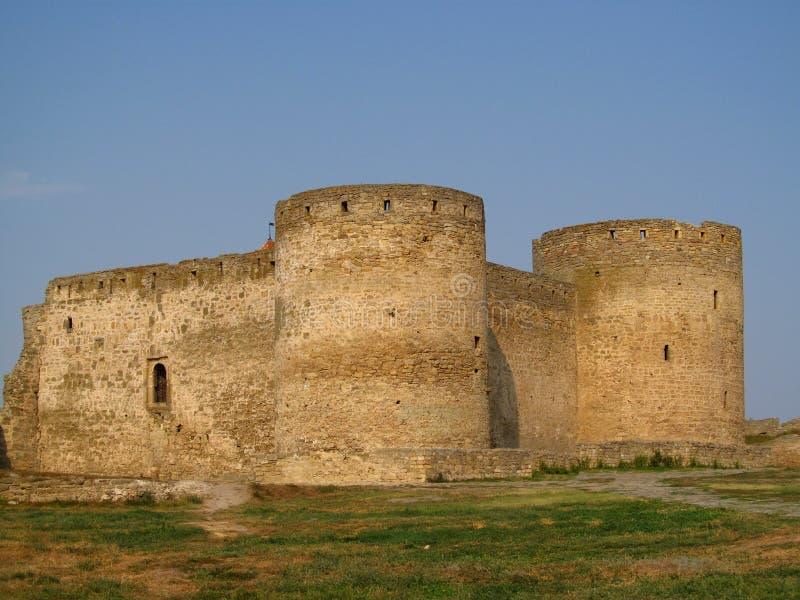 Old citadel in Belgorod Dnistrovski, Ukraine. Old citadel tower and wals in Belgorod Dnistrovski, Ukraine stock photos