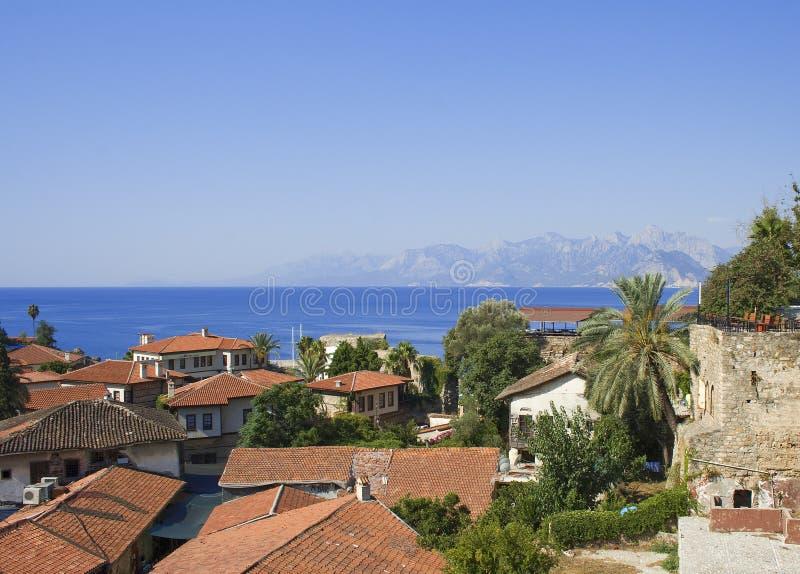 Old city in Antalya stock photo