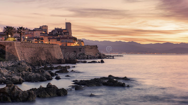 Old city of Antibes royalty free stock photo