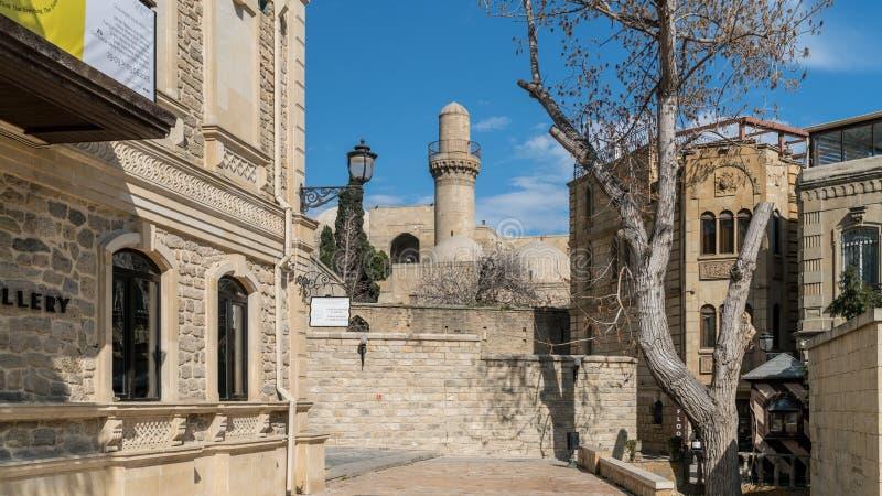 Old City of Baku, Icheri Sheher. Historical core of Baku, Azerbaijan stock photos