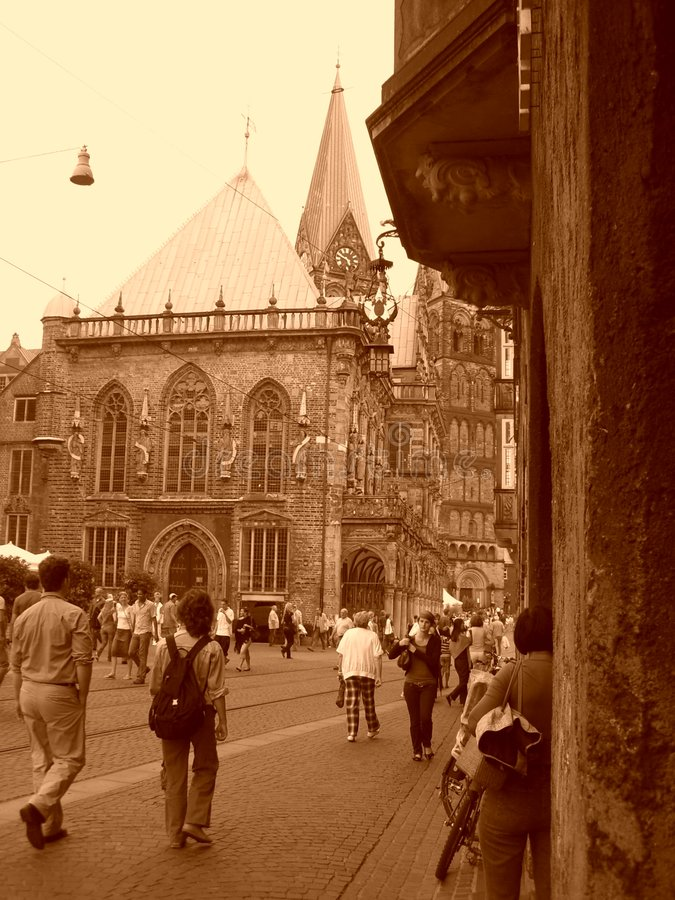 The old city Bremen stock images