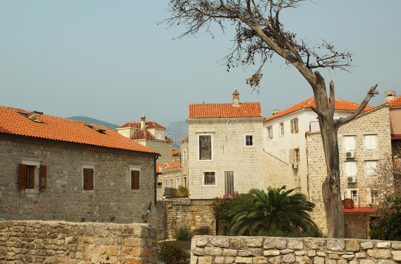 Download Old city of Budva stock photo. Image of house, blue, serf - 26848968