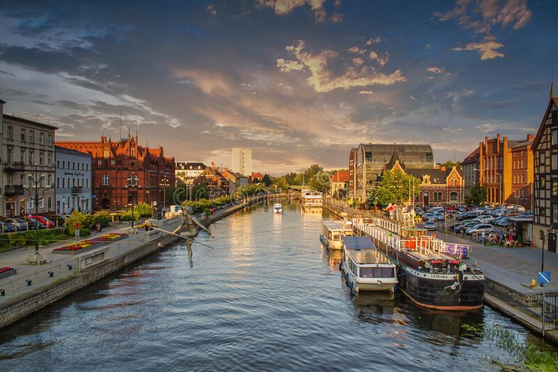 Old City of Bydgoszcz, Poland. The urban landscape on the example of the old city of Bydgoszcz, Poland stock photos