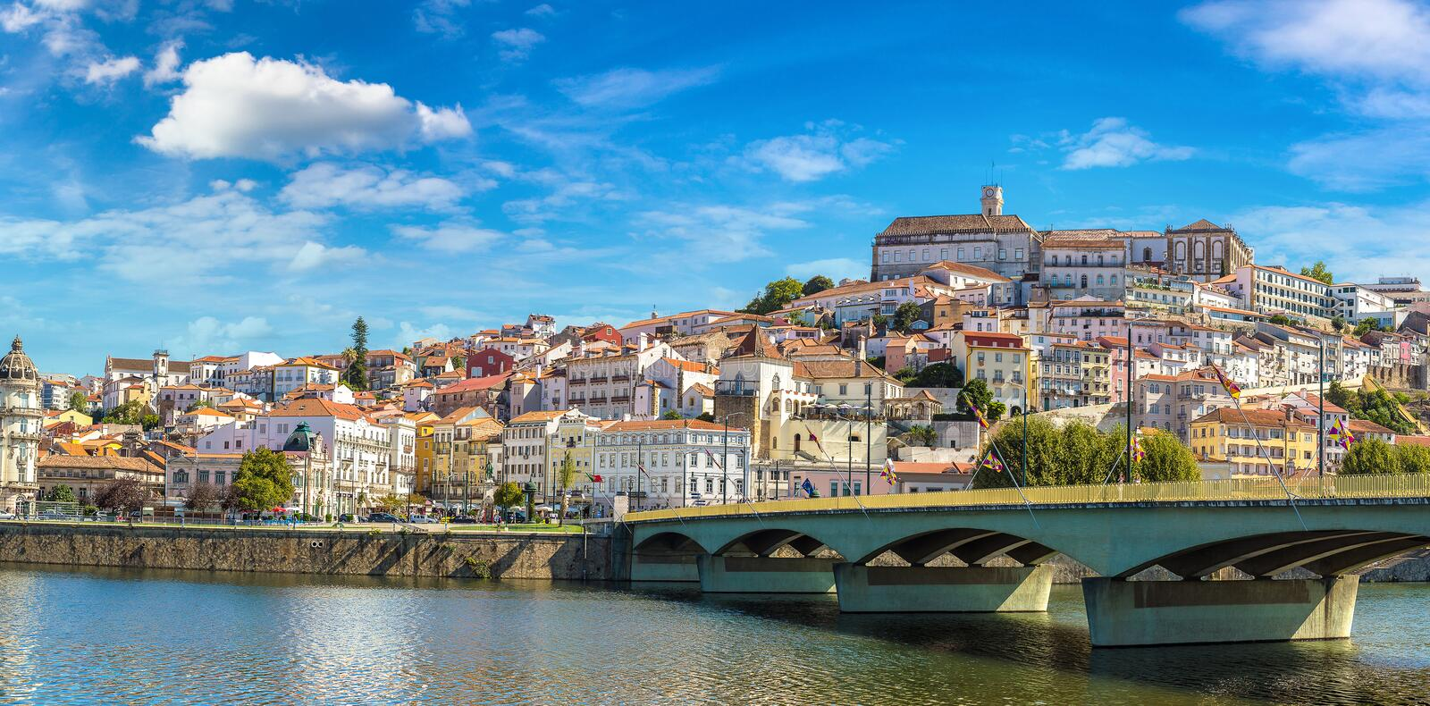 Old city Coimbra, Portugal. In a beautiful summer day royalty free stock images