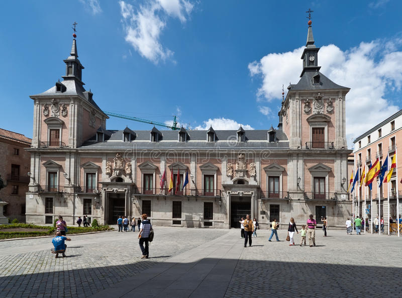 Old city council of Madrid Spain stock photo