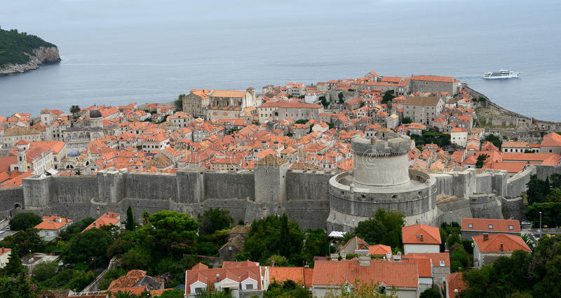 The old city of Dubrovnik. With Adriatic (Croatia stock images