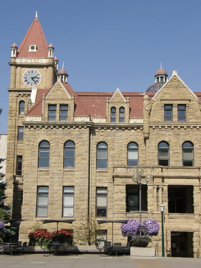 Old City Hall in Calgary, Alberta stock image