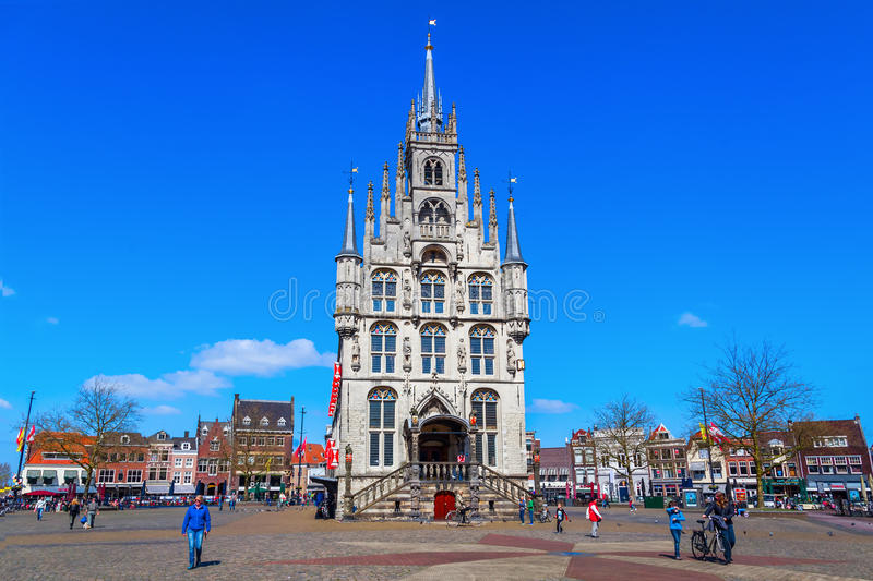 Old city hall of Gouda, The Netherlands royalty free stock photos