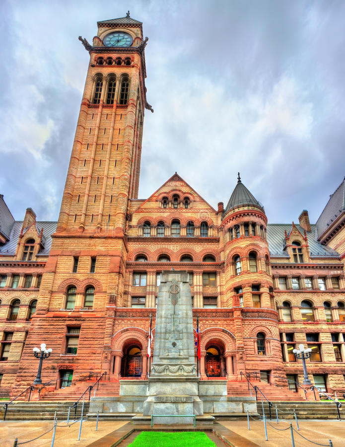 The Old City Hall, a Romanesque civic building and court house in Toronto, Canada stock photography